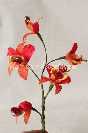 орхидея из конфет