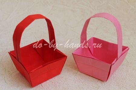 пасхальная корзинка из бумаги