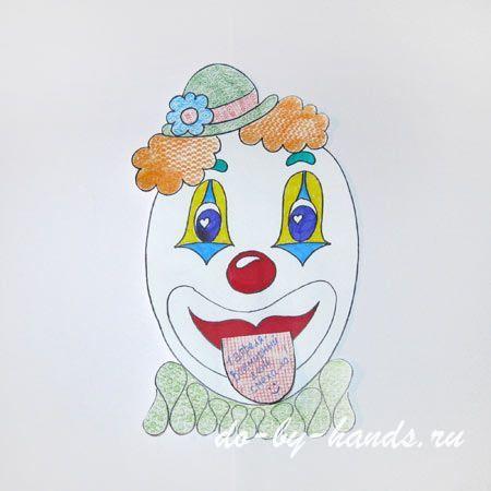 рисунок клоун