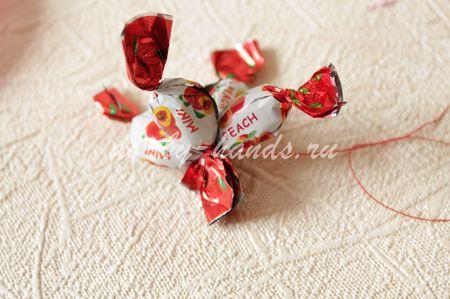 сладкий букет из конфет