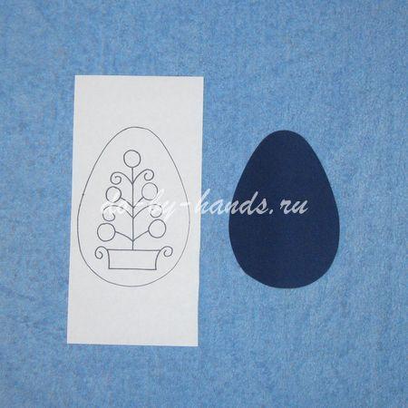 открытка к пасхе изонить