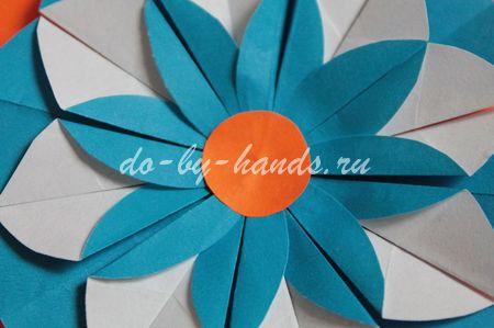 цветок из кругов оргами