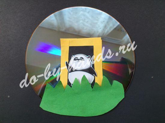 поделка из СД диска