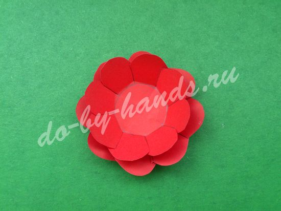простой цветок из бумаги для детей
