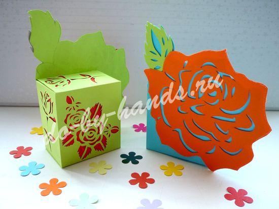ажурная коробочка из бумаги