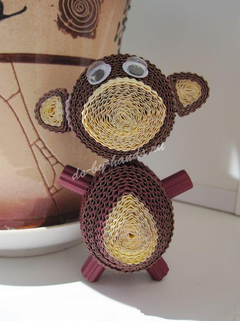 обезьянка квиллинг