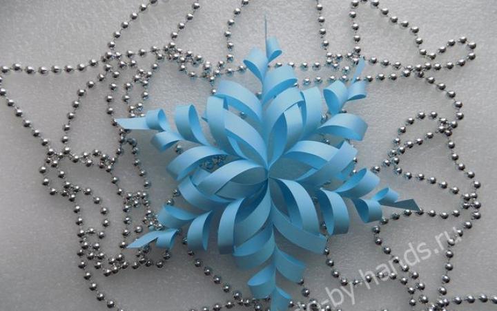 Объемные снежинки своими руками из бумаги и